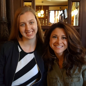Production assistant Emily Rouse with Co-Host Tara Jones